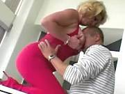 Bigtitted blonde mature licked and hard penetrated