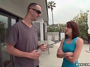Horny Couple Gives A Lesson To Their Sexy Dog Sitter 1