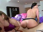 Threesome with a MILF and petite younger girl. Riley Reid, Kendra Lust