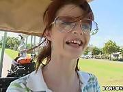 Golfing Tiger-Style. Joslyn James